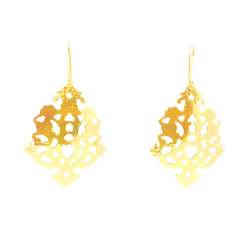 Lindi Kingi Deluxe Solaris Sunflake Earrings Gold