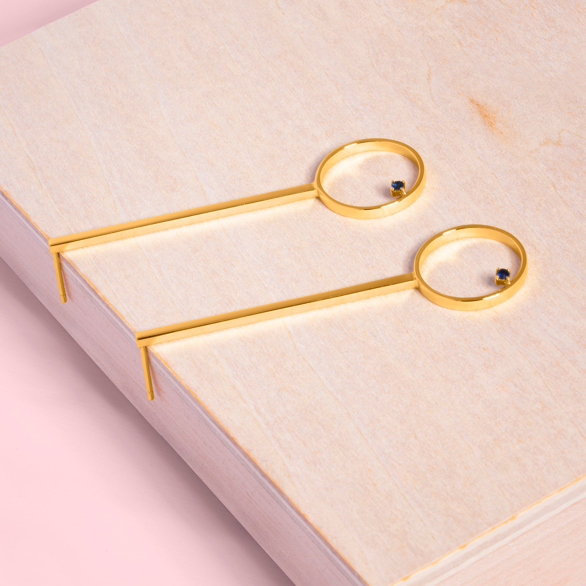 Republic Road Illuminate | The Speck Earrings Gold on Wood
