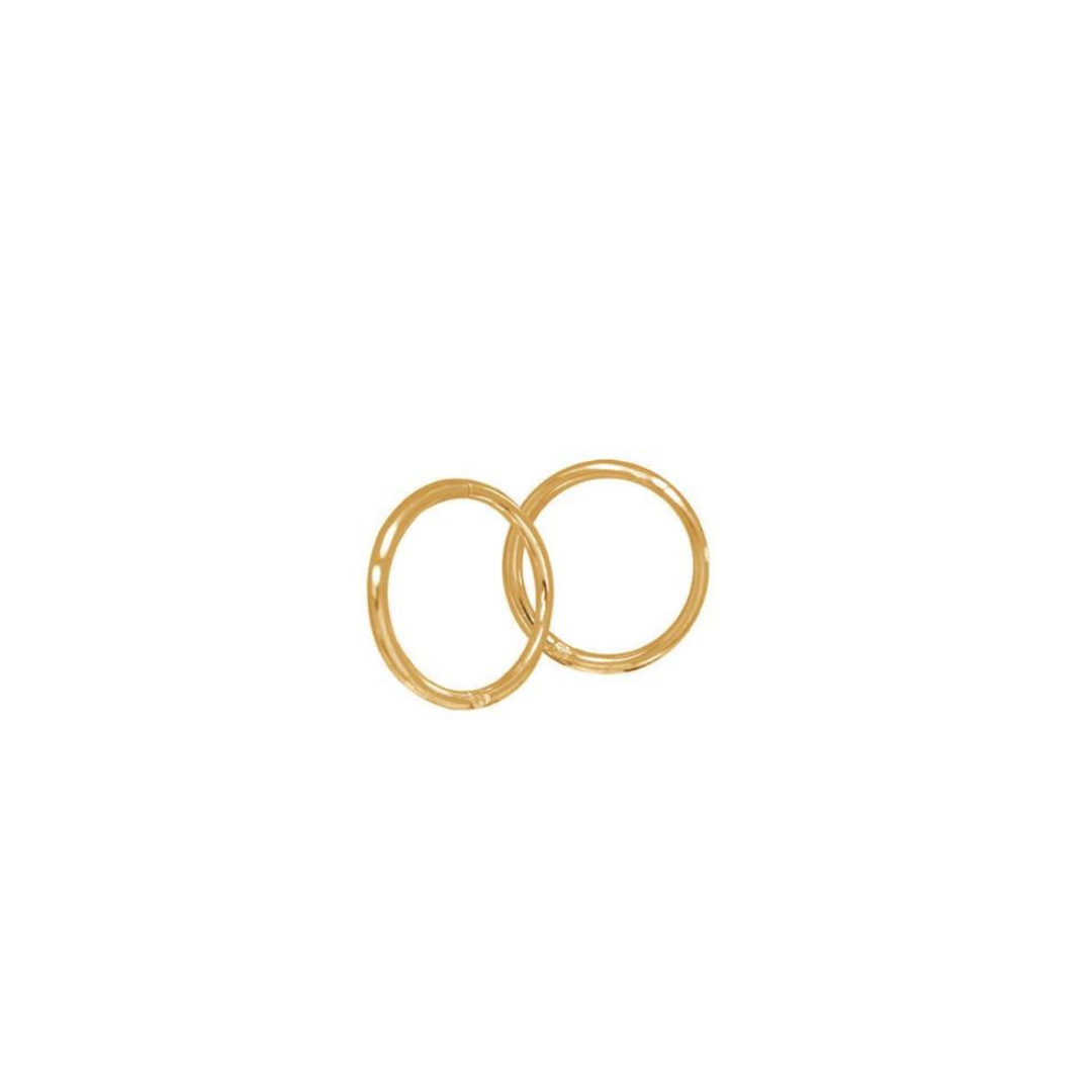 SAMPLE | 14mm Silver | Gold Plated Sleepers