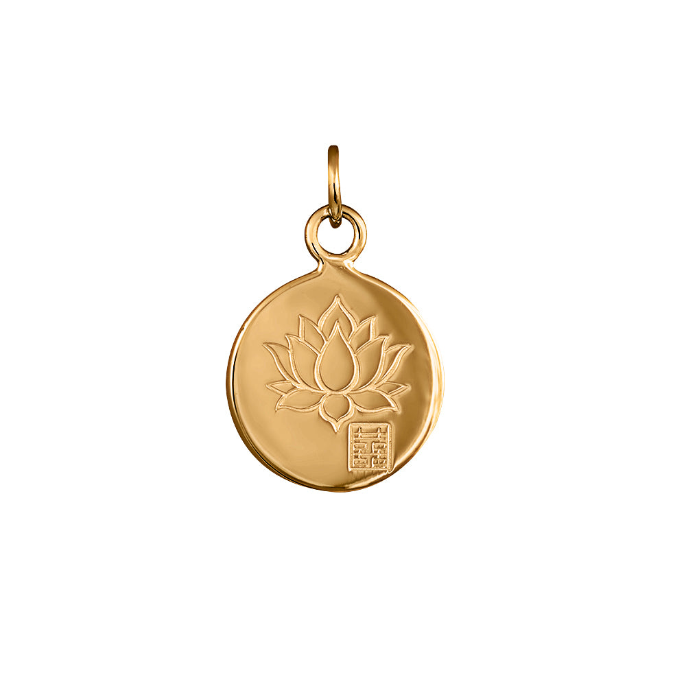 Lindi Kingi Deluxe Lotus Pendant Gold (no chain ) | Available Now at The Mint Republic
