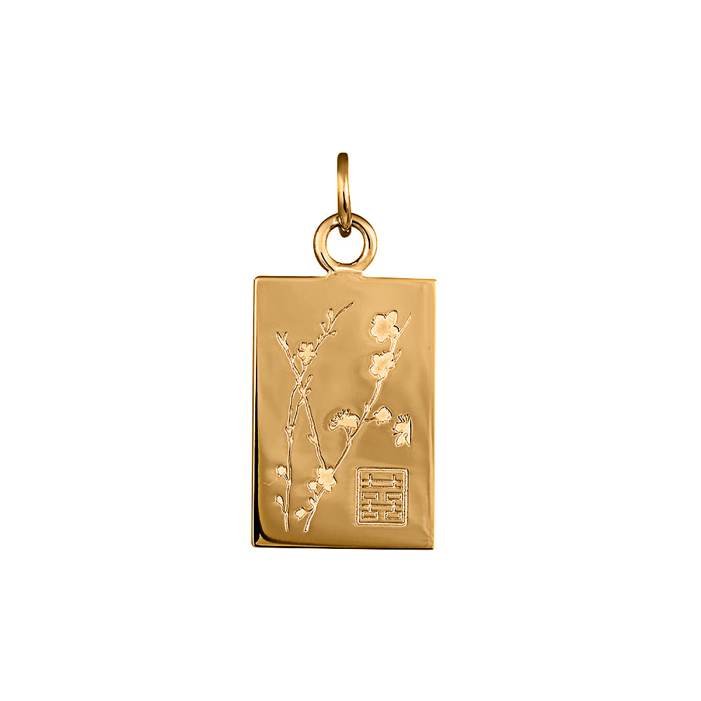 Lindi Kingi Deluxe Cherry Blossom pendant Gold (no chain ) | Available now at The Mint Republic
