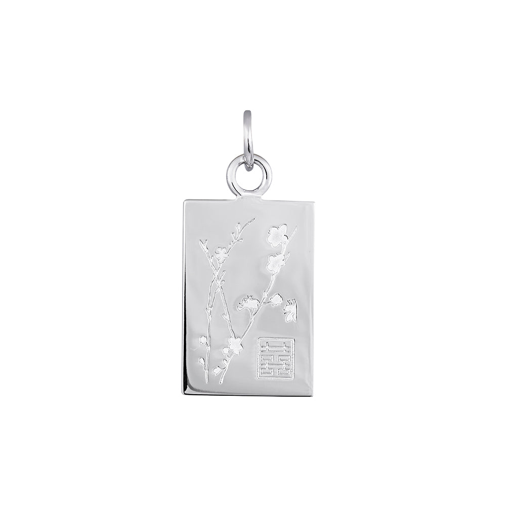 Lindi Kingi Deluxe Cherry Blossom pendant Silver (no chain) | Available Now  at The Mint Republic