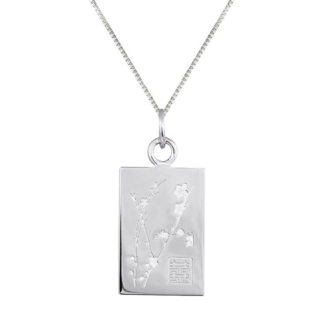 Lindi Kingi Deluxe Cherry Blossom pendant Silver (with chain) | Available Now  at The Mint Republic