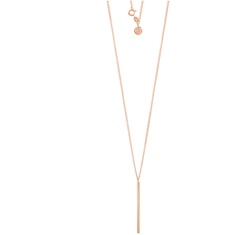 Cut to the Chase Necklace ROSE