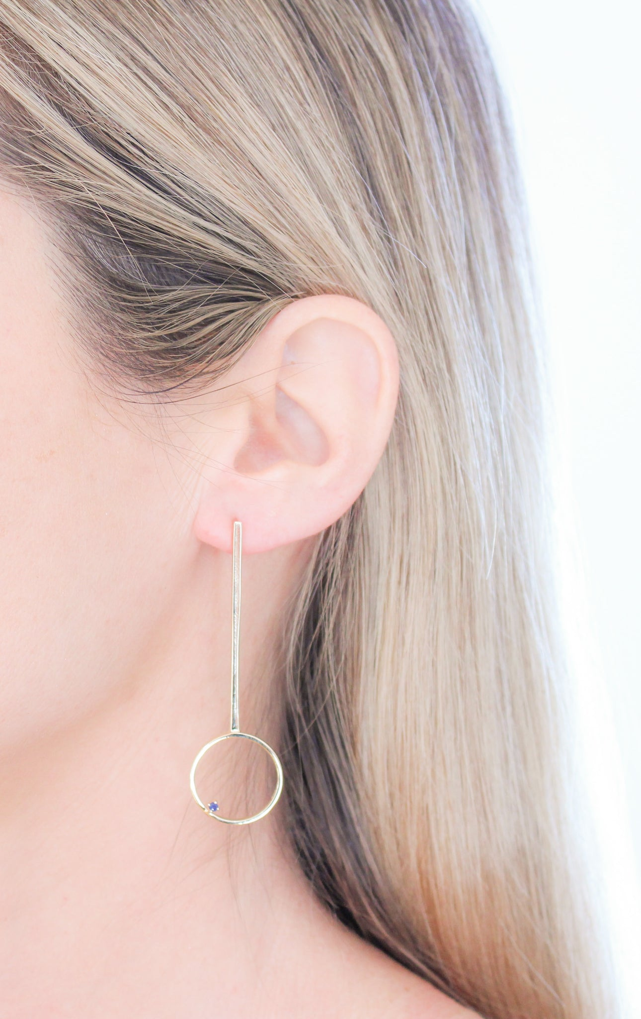 The Speck Drop Earrings Gold