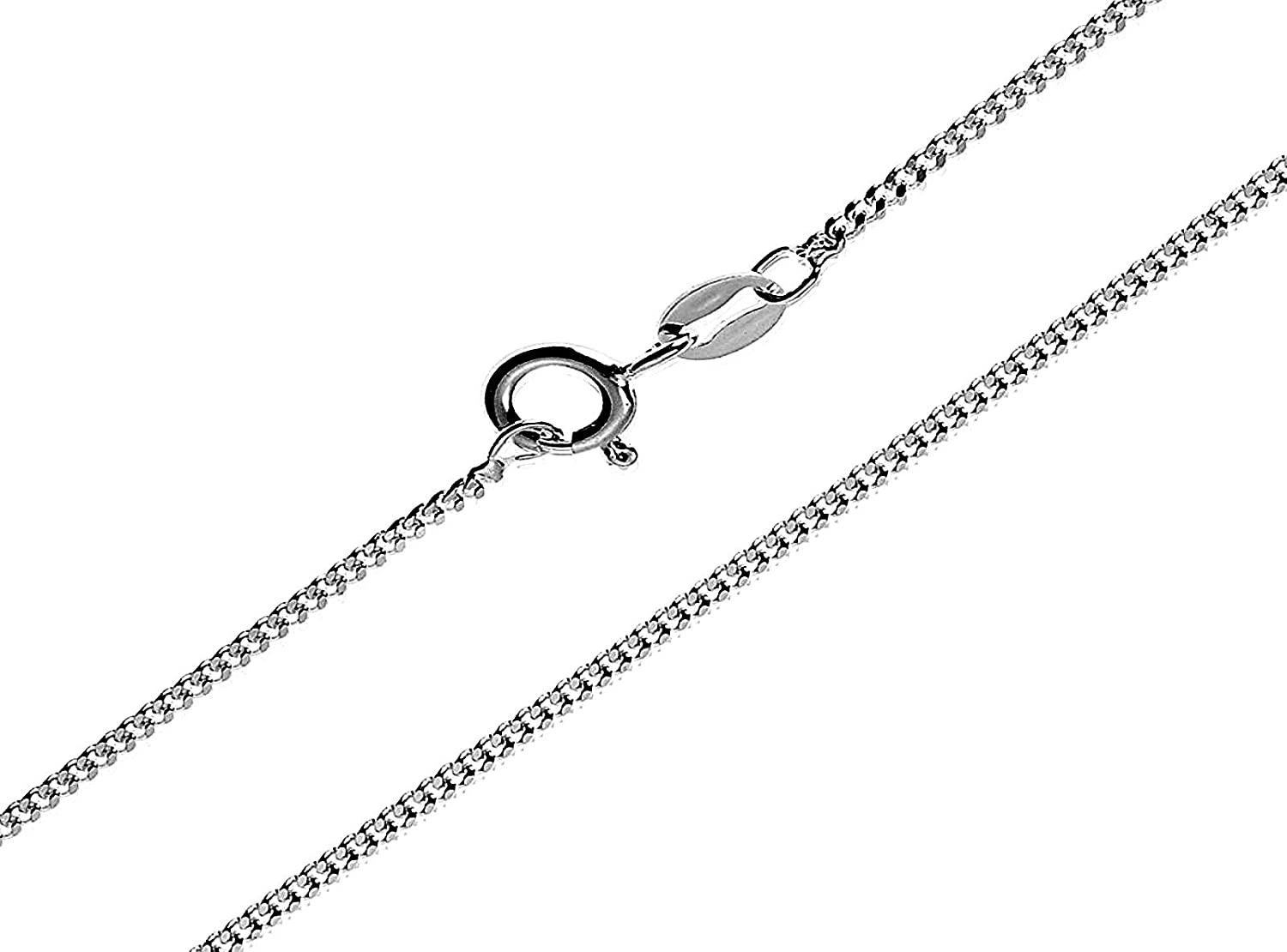 SAMPLE | Sterling Silver Fine Curb Chain 45cm with sizers