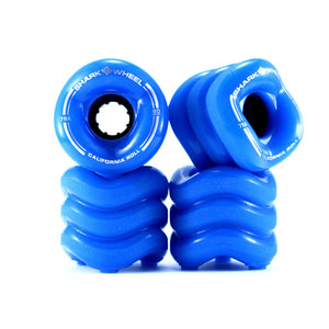 Shark Wheel California Roll 60mm 78A Set - Blue-Shark Wheel-Seaside Surf Shop