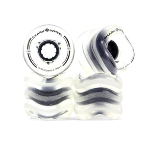 Shark Wheel California Roll 60mm 78A Set - Clear/Black-Shark Wheel-Seaside Surf Shop
