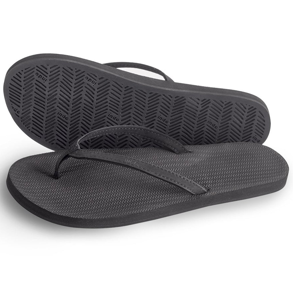 Indosole - Womens  ESSNTLS Flip Flops - Black - Seaside Surf Shop
