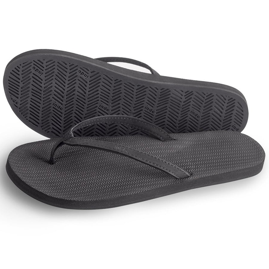 Indosole - Womens ESSNTLS Flip Flops - Black-Indosole-Seaside Surf Shop