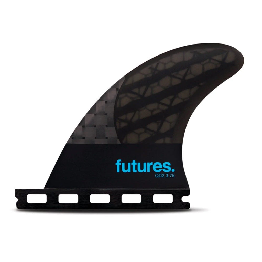 "Futures Fins - QD2 Quad Rear - 3.75"" 80/20 - Seaside Surf Shop"