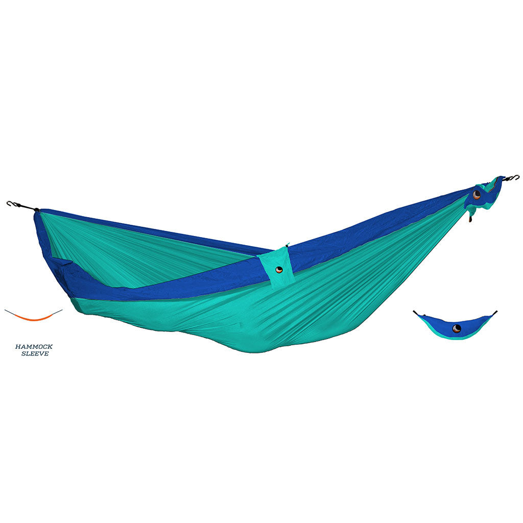 -Outdoor-Ticket to the Moon Ultimate Hammock - Blue/Teal-Ticket to the Moon-Seaside Surf Shop