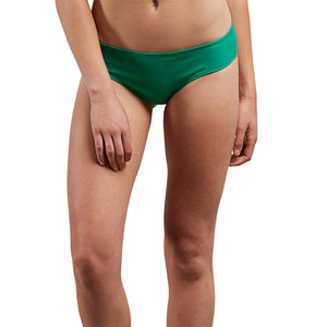 Volcom Womens Simply Solid Cheeky- Green Spray-Volcom-Seaside Surf Shop