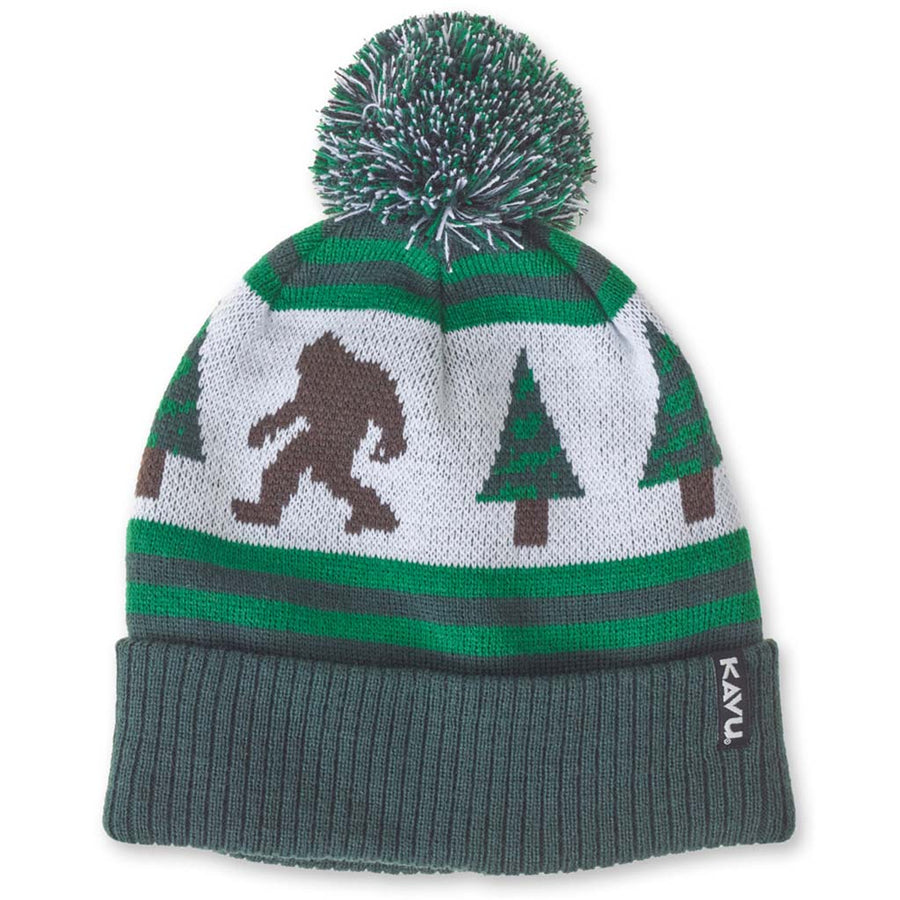 Kavu Herschel Beanie - Sasquatch, Apparel Accessories, Kavu, Beanies, Vintage inspired beanie with ski-style patterns with pom on top. One Size. Fabric: 100% acrylic.