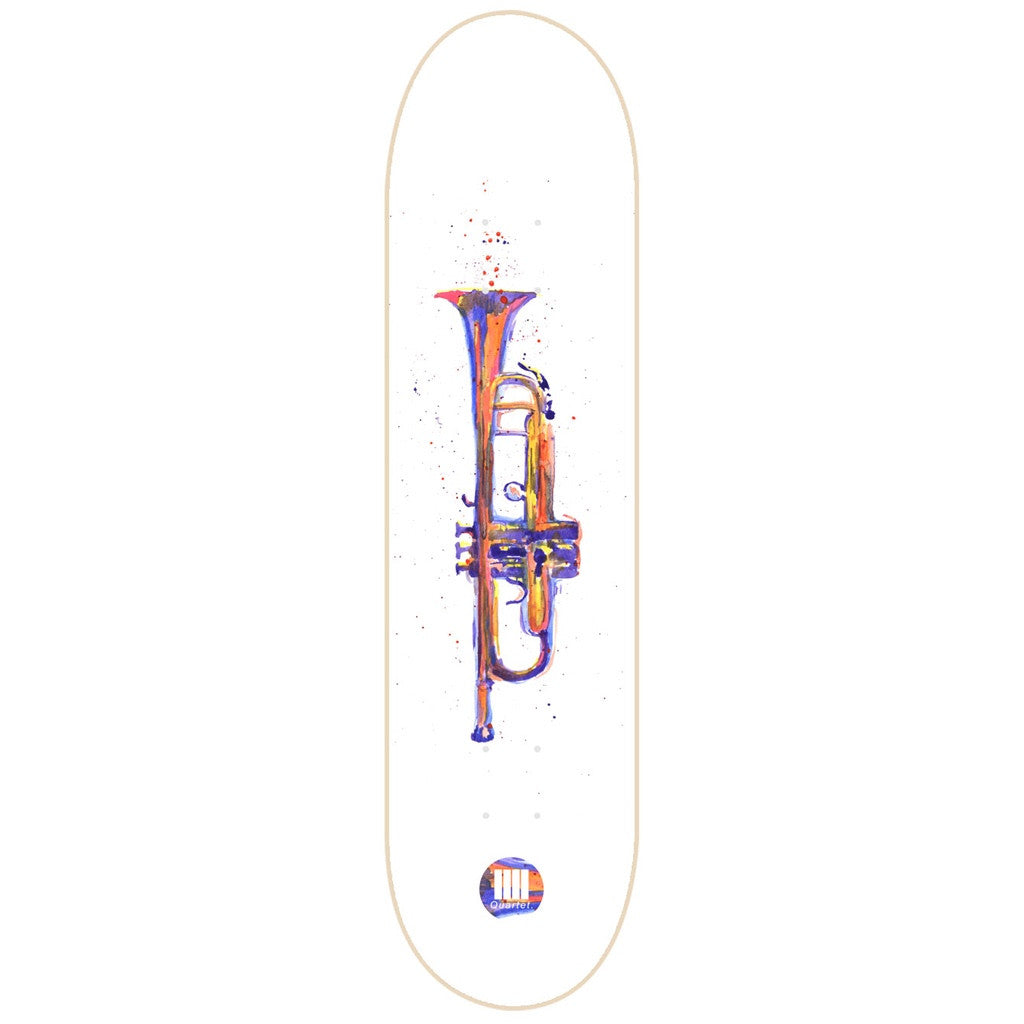 Quartet Skateboards Splattered Brass Deck 8.25