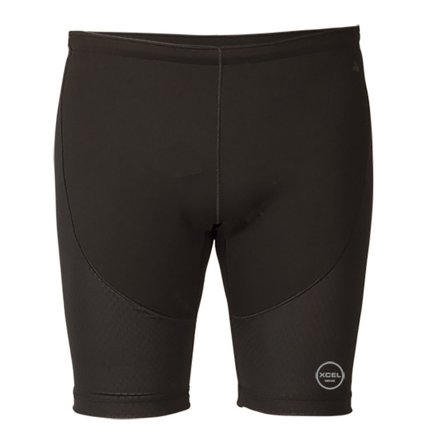 "Xcel Celliant 1mm Paddle Short - Black, Wetsuit Accessories, Xcel Wetsuits, Mens Wetsuit Bottoms, Clinically Proven Infrared Smart Fiber 4-Way Stretch Side Panels and Back Yoke Increase Tissue Oxygenation Enhance Overall Performance Naturally Hydrophobic 100% Performance Stretch Front and Back Seat Drawstring Elastic Waist Leg Seals 9"" inseam B-Lock Construction Streamline Left Key Pocket"
