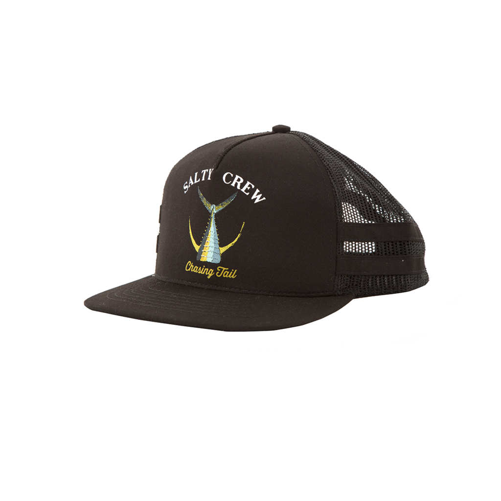 the best attitude a957f 77f19 Salty Crew Tailed Trucker Hat - Black - Seaside Surf Shop