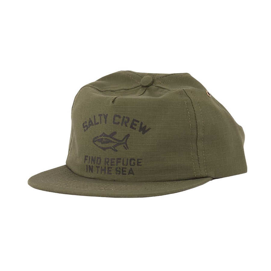 Salty Crew Vandal 5 Panel Hat - Olive