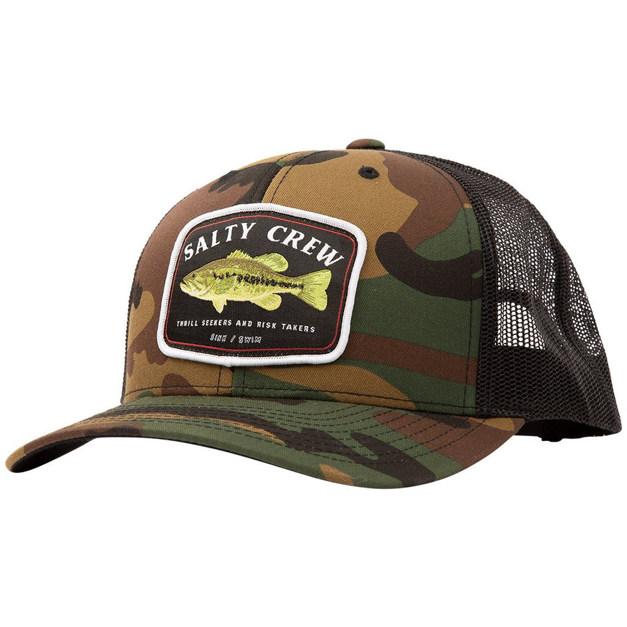 Salty Crew Big Mouth Retro Trucker Cap - Camo