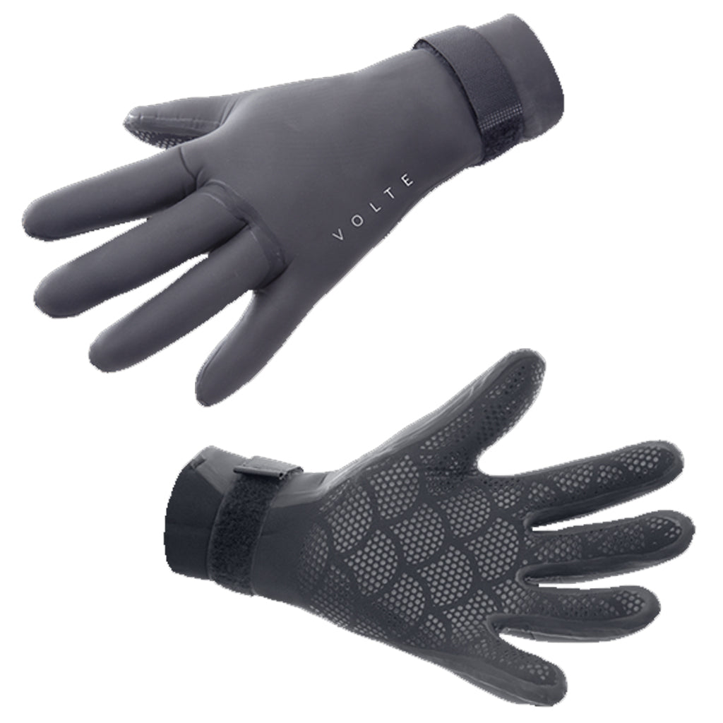 Volte Wetsuits 3mm 5 Finger Glove - Black - Seaside Surf Shop