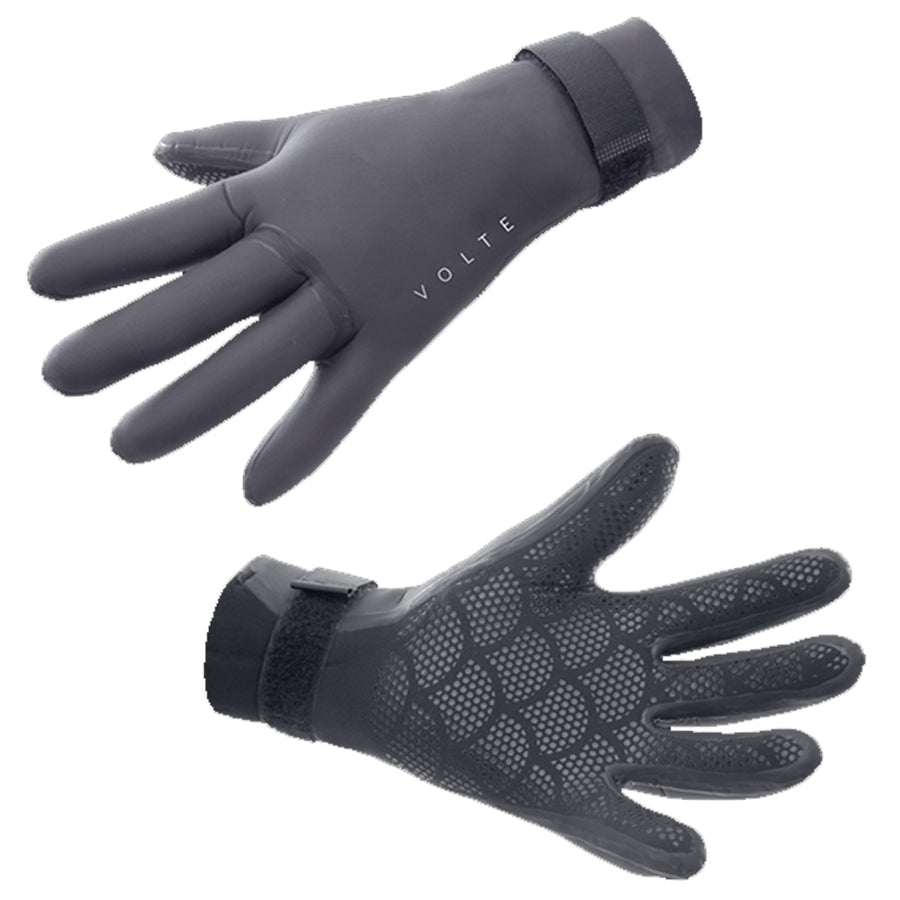 Volte Wetsuits 3mm 5 Finger Glove - Black