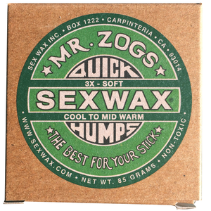 Sex Wax 3x Cold (4 Pack), Surf Accessories, Zogs Sex Wax, Zogs Sex Wax, Go in a man and come out a woman, thats how cold the water is. Cold Water surfing comes at a price but thanks to Zogs 3x Wax your'e set to get the traction you need to create some frictionless glides. (We can mix up the wax if you need basecoat/tropical, 1x, 2x, 3x, 4x, 5x or 6x Zogs or Sticky Bumps otherwise you will receive 4 bars as ordered....Just leave a note at checkout if you want us to change up the wax)