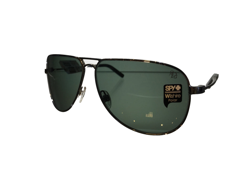 SPY Wilshire Shiny Grey Green Polarized