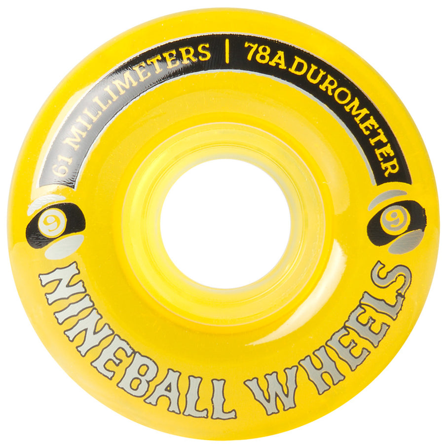 '-Skate-Sector 9 61mm Nineballs Wheels - Yellow-Sector 9-Seaside Surf Shop