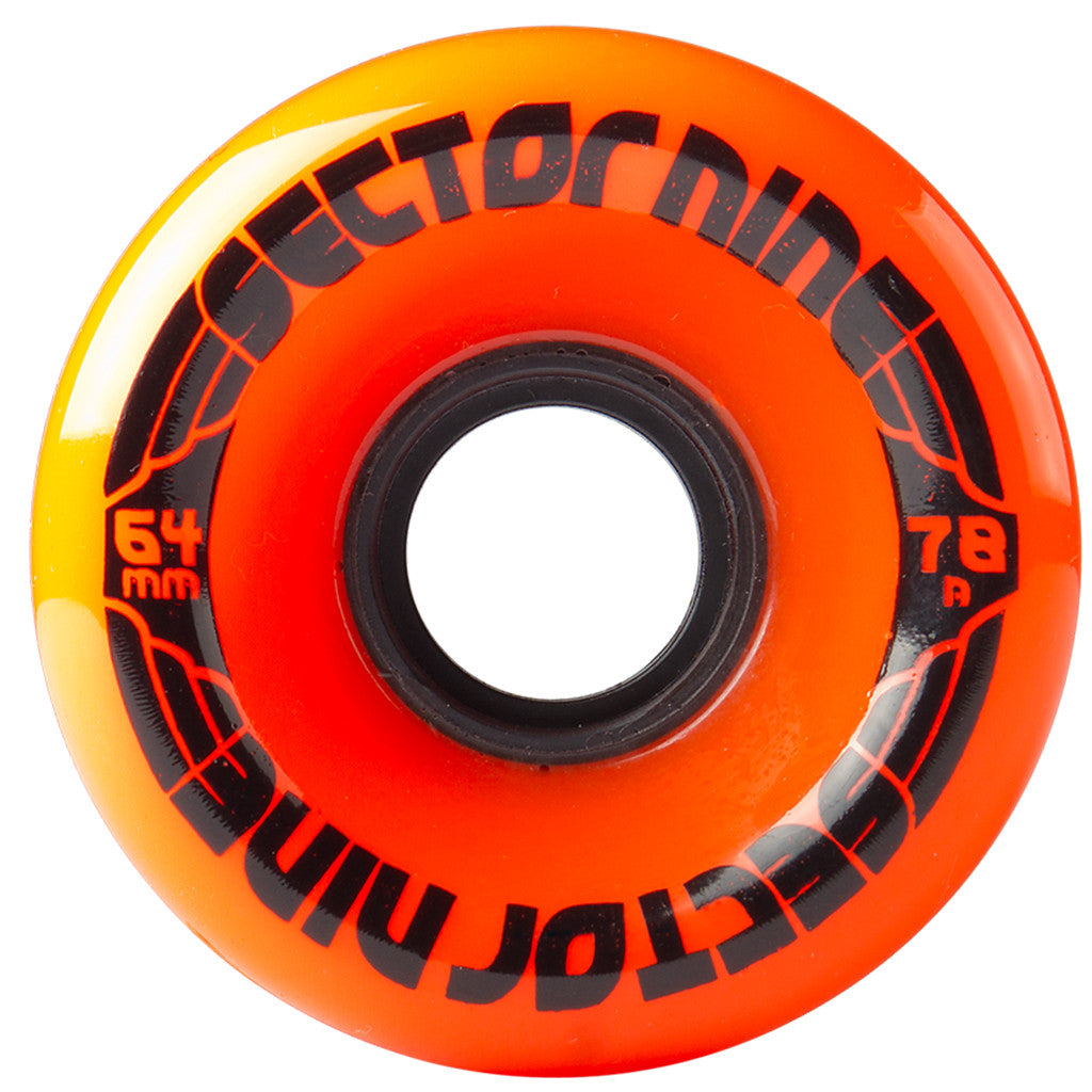 -Skate-Sector 9 64mm Nineballs Wheels - Orange-Sector 9-Seaside Surf Shop