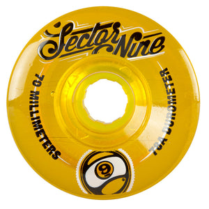 Used Sector 9 70mm Nineballs Top Shelf Wheels - Orange-Sector 9-Seaside Surf Shop