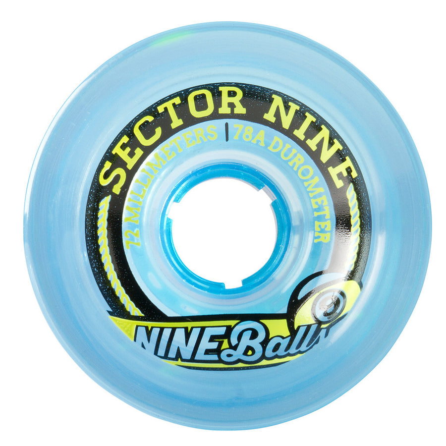 Sector 9 72mm Nineballs Top Shelf Wheels, Skate, Sector 9, 72mm Wheels, Longboard Wheels, Sector 9, 75A Duro + 51mm CP