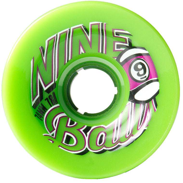 -Skate-Sector 9 74mm Nineballs Top Shelf Wheels - Green-Sector 9-Seaside Surf Shop