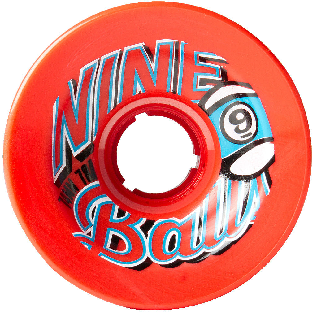 -Skate-Sector 9 74mm Nineballs Top Shelf Wheels - Orange-Sector 9-Seaside Surf Shop