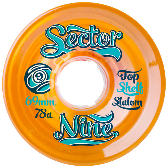 -Skate-Sector 9 69mm Nineballs Top Shelf Wheels - Orange-Sector 9-Seaside Surf Shop