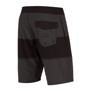 -Swimwear-Volcom Mens Quarta Static Stoney Boardshort - Black-Volcom-Seaside Surf Shop