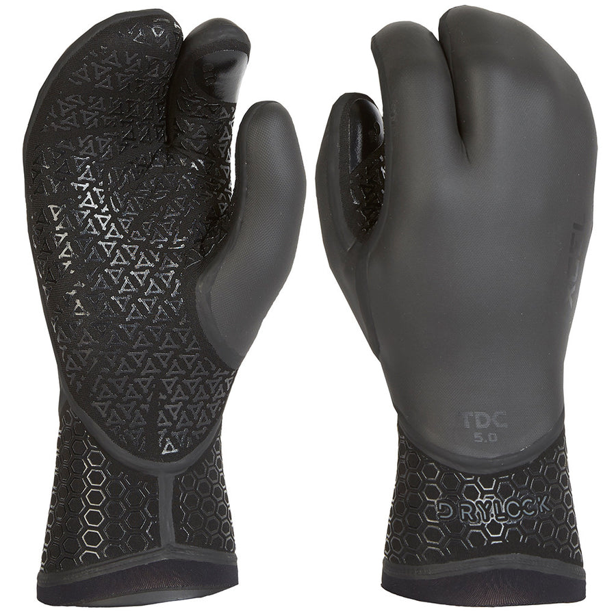 Xcel Drylock 3mm 3 Finger Glove - Black-Xcel Wetsuits-Seaside Surf Shop