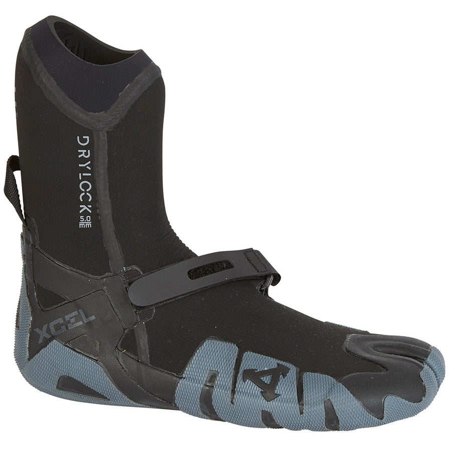 Xcel Drylock 5mm Split Toe Boot - Black/Grey-Xcel Wetsuits-Seaside Surf Shop