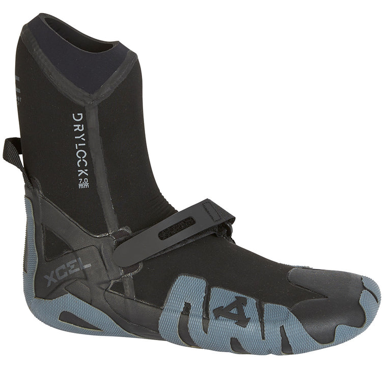 -Wetsuit Accessories-Xcel Drylock 7mm Round Toe Boot - Black/Grey-Xcel Wetsuits-Seaside Surf Shop
