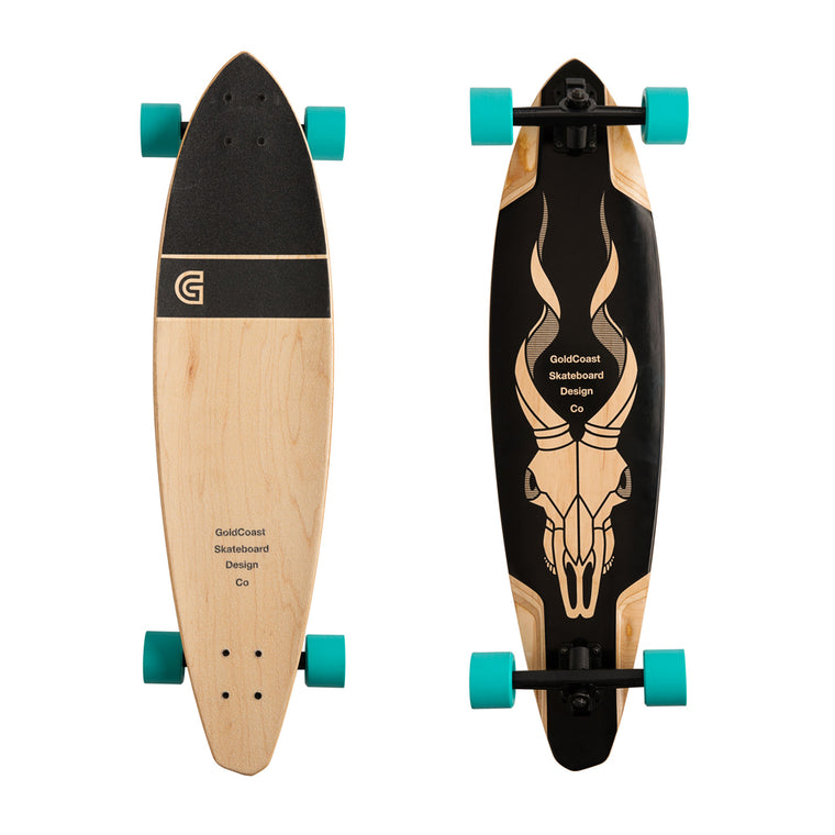 "-Skate-Gold Coast Addax Performance Pintail Longboard 36"" - Complete-Gold Coast Skateboards-Seaside Surf Shop"