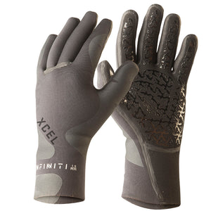Xcel Infiniti 3mm 5-Finger Glove - Black-Xcel Wetsuits-Seaside Surf Shop