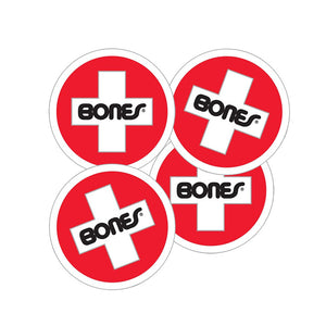 -Stickers-Bones Swiss Chart Logo Sticker-Bones-Seaside Surf Shop