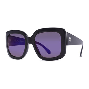 Crush Eyes Sunglasses Brightside - Black/Blue Flash Mirror