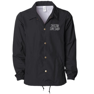 Seaside Surf Shop Mens Dog Days Coaches Jacket - Black