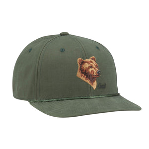 Coal Mens The Wilderness Low Profile Animal Snapback - Forest Green