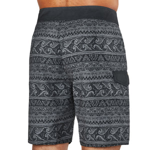 Dakine Mens Makaha Boardshort - Black Sketch Wave