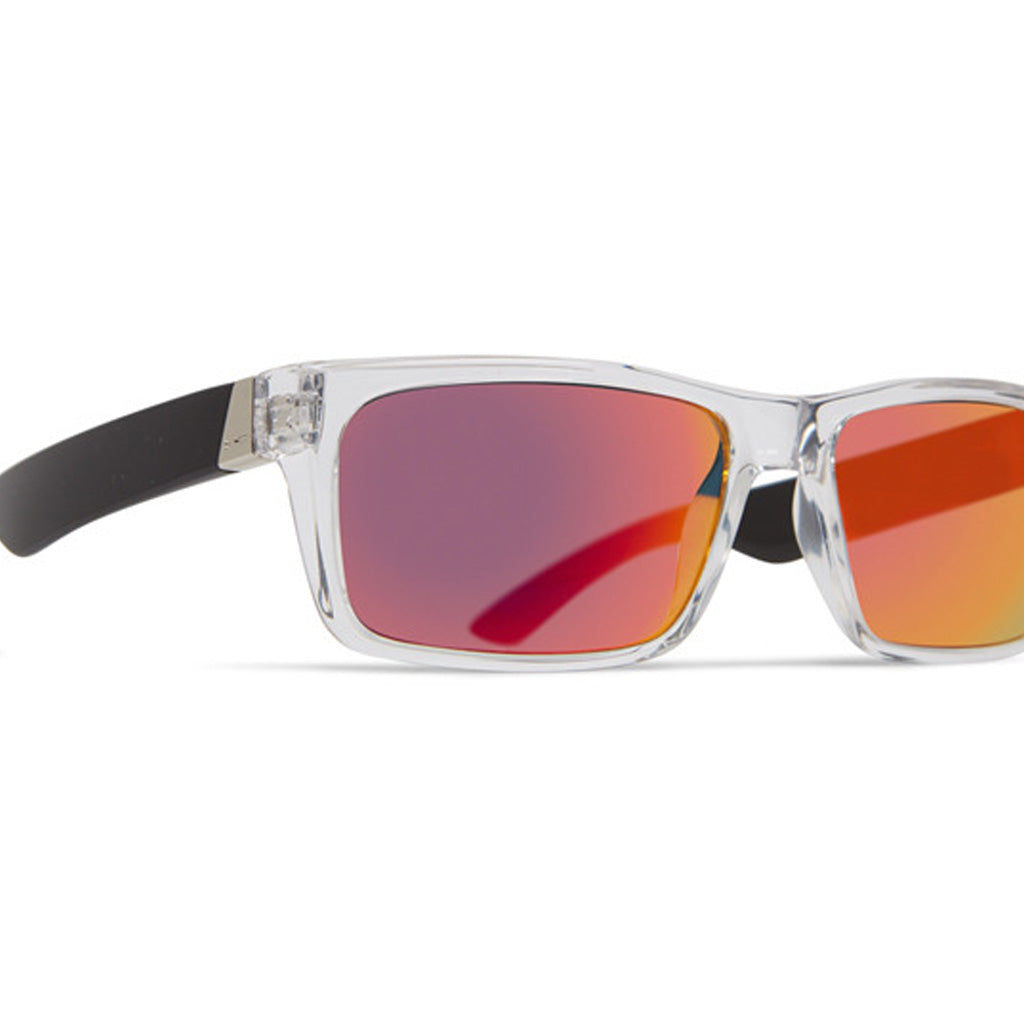 Dot Dash Lads Sunglasses - Crystal Black/Red Chrome - Seaside Surf Shop