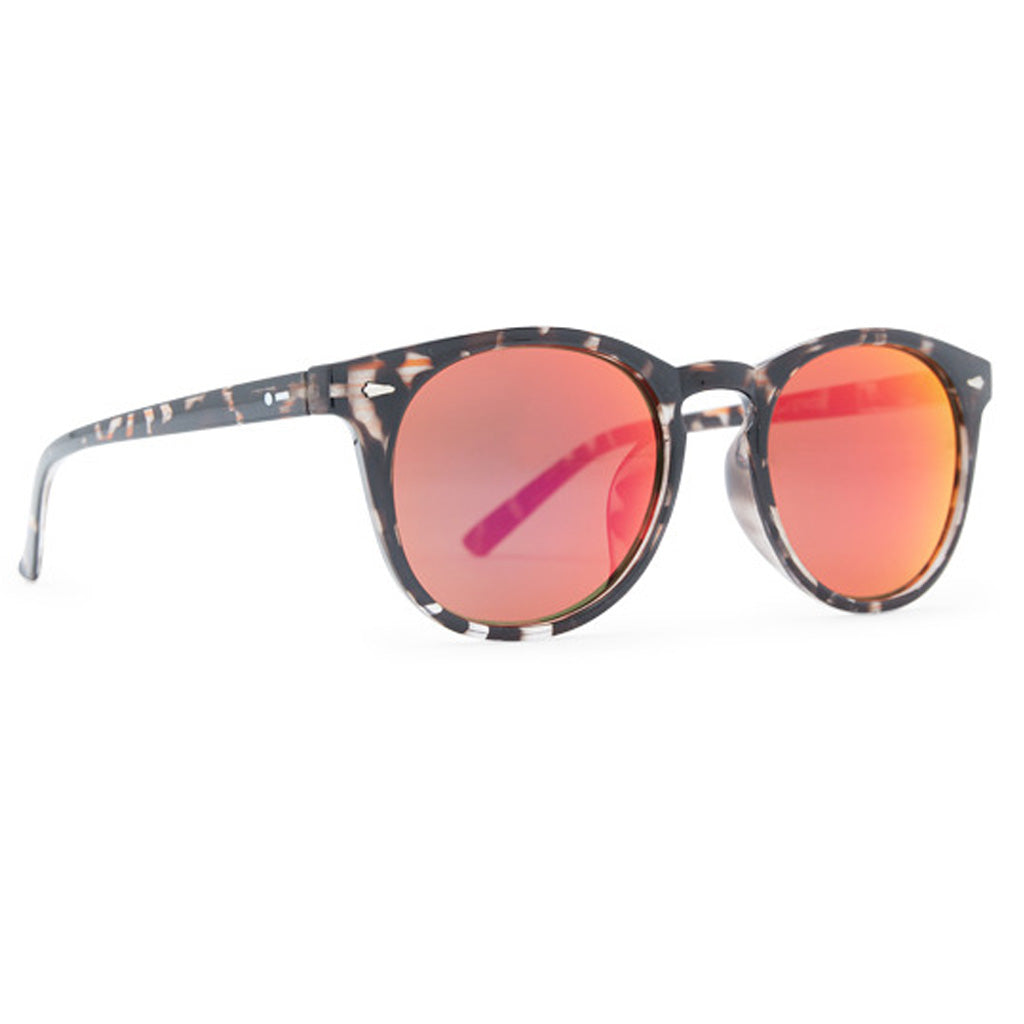 Dot Dash Strobe Sunglasses - Tortoise Black/Red Chrome - Seaside Surf Shop