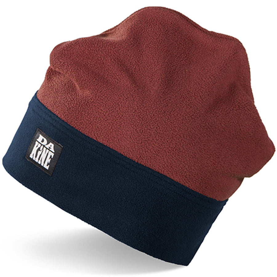Dakine Mens Foster Fleece Beanie - India Ink/Russet, Apparel Accessories, Dakine, Beanies, A RETRO BEANIE MADE OF SOFT, WARM FLEECE.Harken back to the days when snowboarding carved its first turn into the mainstream in this fleece beanie. A soft fleece build and double-layer cuff serve up the warmth, while a classic shape and Dakine logo lend a retro feel.DETAILS2 Year Limited WarrantyRetro fleece peak beanieDouble layer cuff100% Polyester
