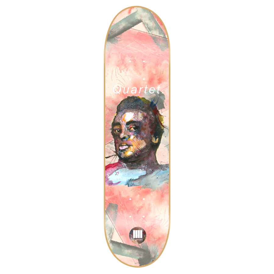 "-Skate-Quartet Skateboards Miles Davis Deck - 8.38""-Quartet Skateboards-Seaside Surf Shop"