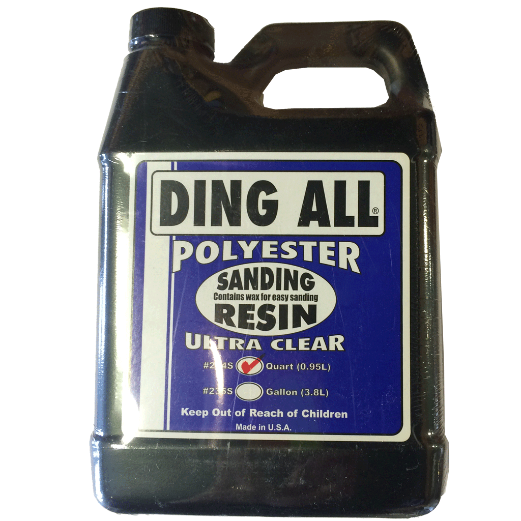 Ding All Ultra Clear Sanding Resin - Half Pint - Seaside Surf Shop